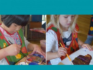 Chichester nursery children creating